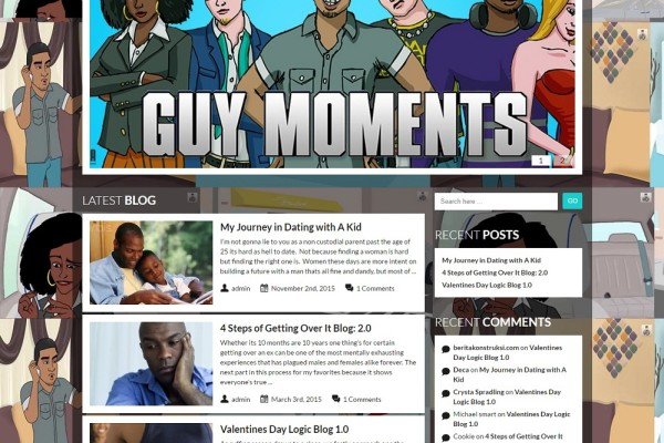 Website and Blog Design for Guy Moments Show
