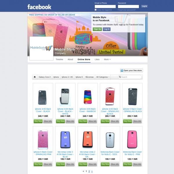 Facebook E-Commerce Store
