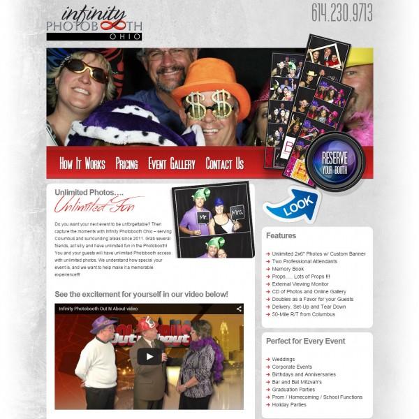 Infinity Photobooth Ohio – PSD to WordPress Conversion