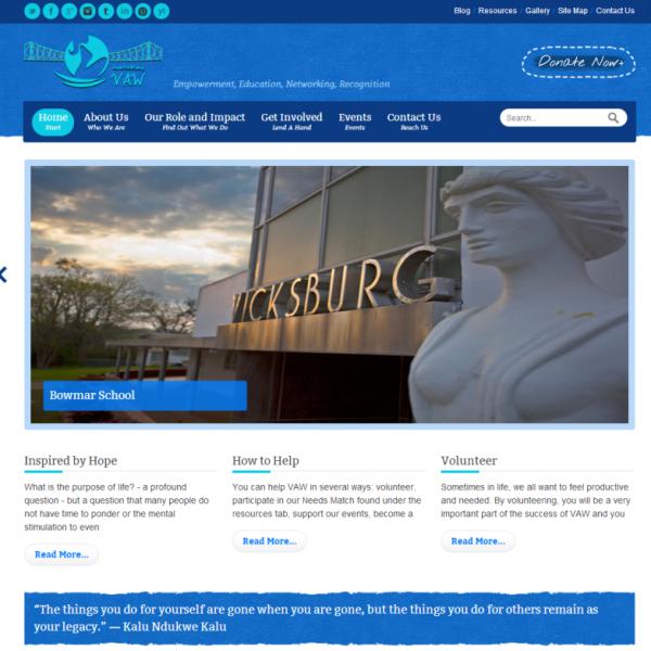 VAW – A Non-Profit, Vicksburg, USA