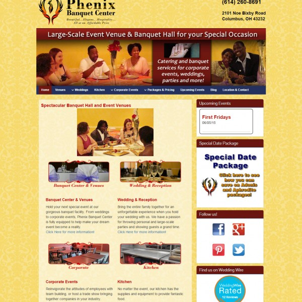 Phoenix Banquet Centre – PSD to WordPress Theme