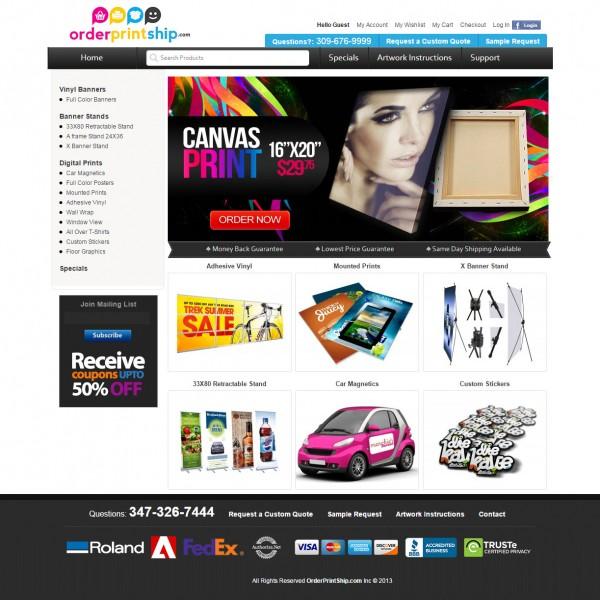 E-Commerce Print Shop