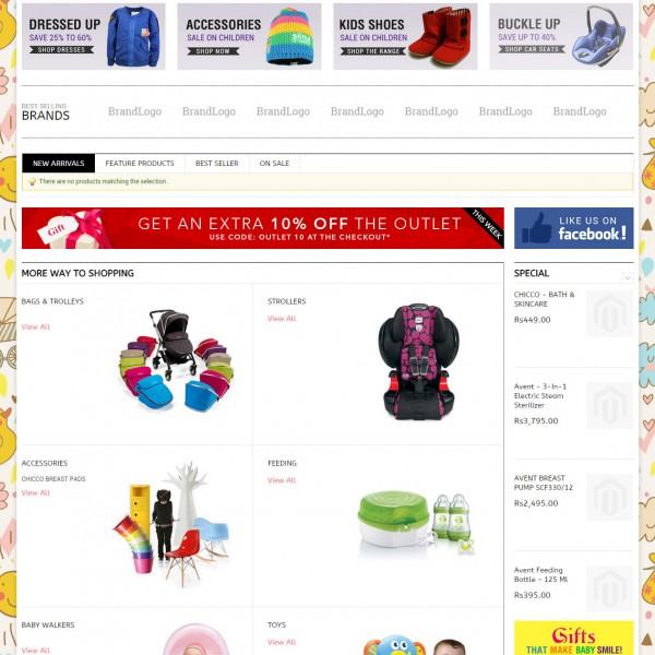 E-Commerce Store for Kids Accessories