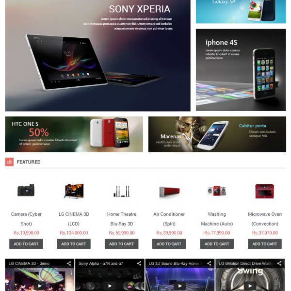 E-Commerce Store for Electronics