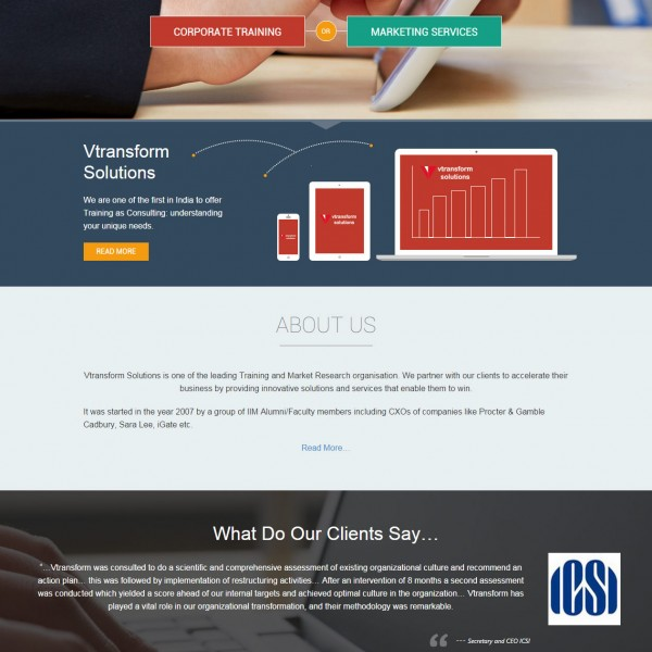 Vtransform Solutions – Custom Web Application Development