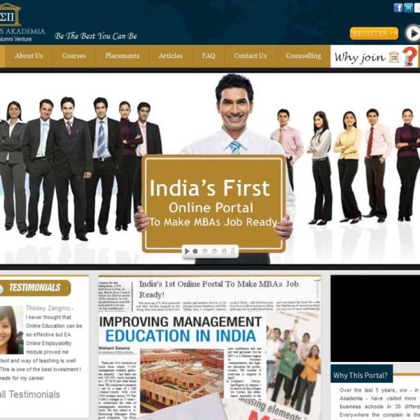 CMS Website Design for Education Academy