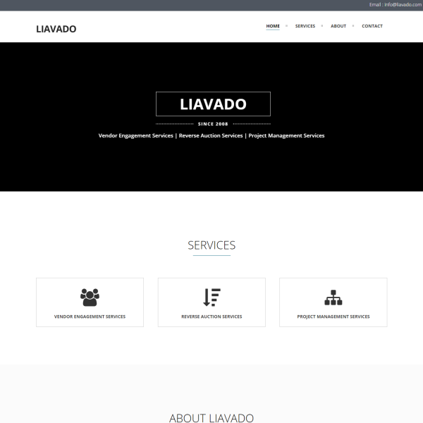 PSD to One Page Responsive WordPress For LiAVADO