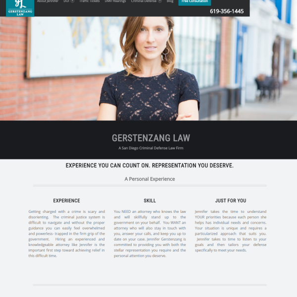 Professional Website for Gerstenzang Law Firm