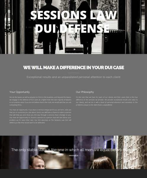 Professional Website for Sessions Law Firm