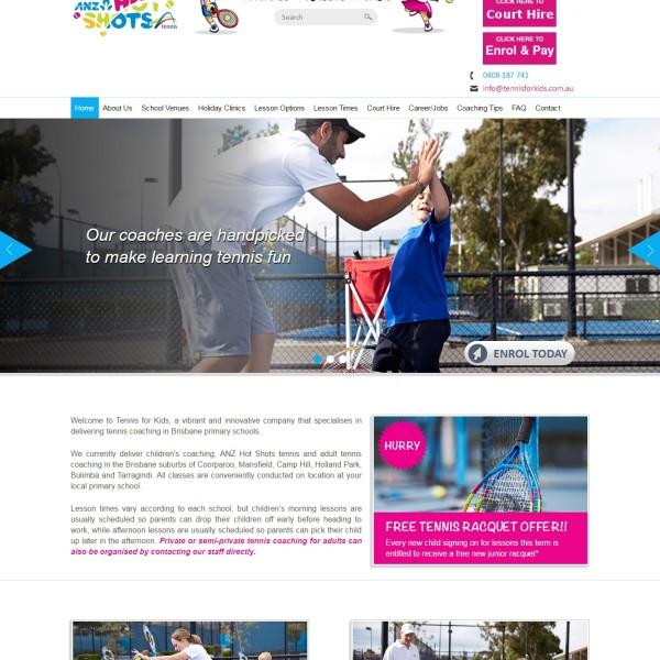 Professional Website for Tennis For Kids Australia