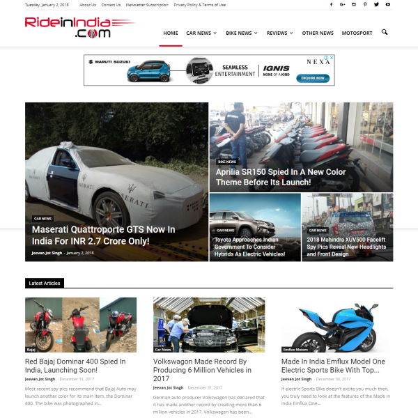 Automobile News Blog – RideInIndia.com
